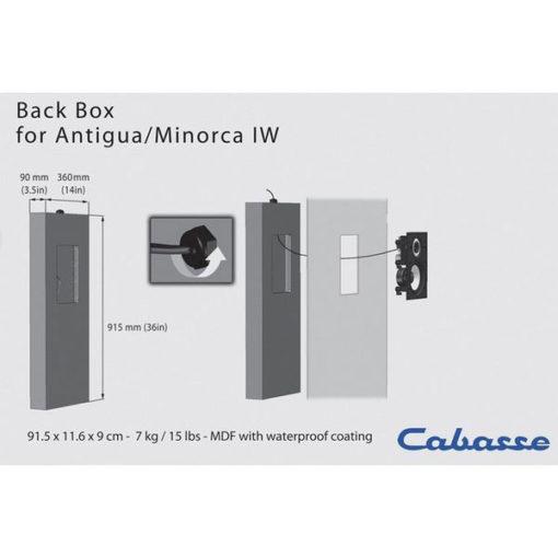 Cabasse Back Box for Antigua/Minorca IW